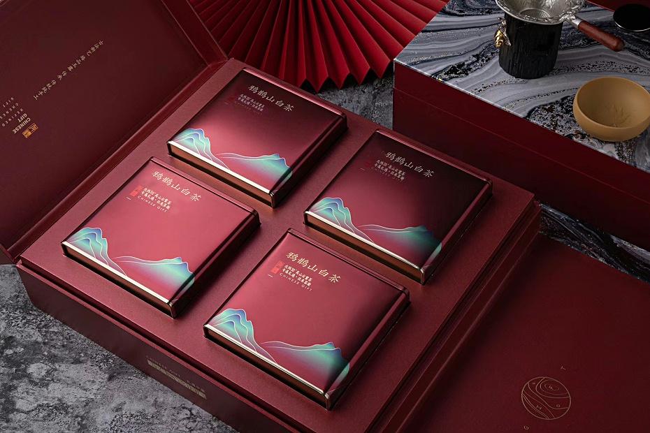 400克规格包装-鸦鹊山高端大气款(红色四罐)